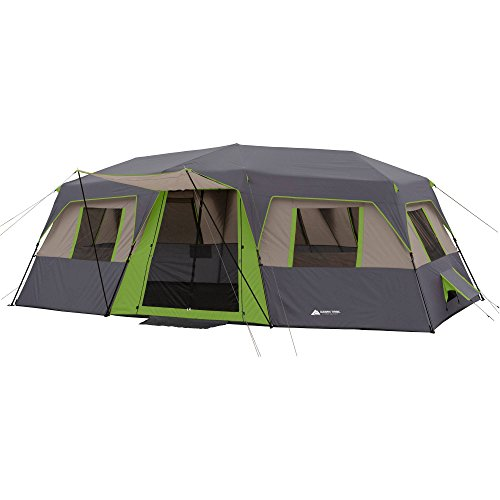 Ozark Trail 20' X 10' Green Instant Cabin Tent, Sleeps 12