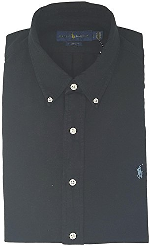 Polo Ralph Lauren Men's Long Sleeve Oxford Button Down Shirt-Black-XL by Polo Ralph Lauren