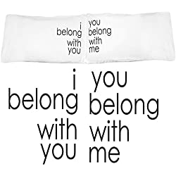 Oh, Susannah I Belong with You Couples Pillow Case Set Makes Great Pillowcase Wedding Gift (King) Engagement Gifts