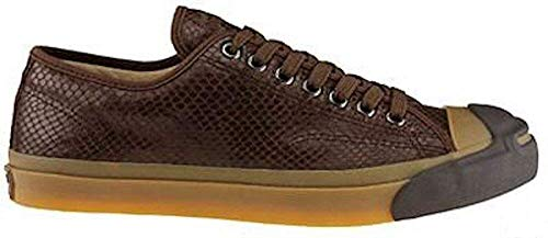 Converse x John Varvatos Jack Purcell Vintage Brown Leather Snake Embossed  Ox 1W226 c0d13a435