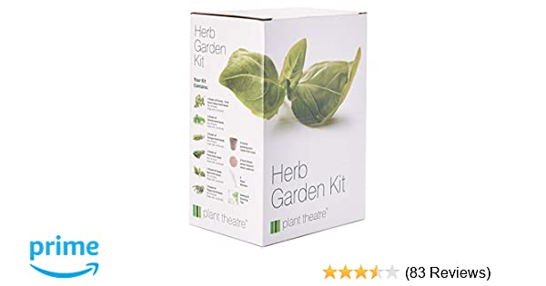 Plant Theatre Herb Garden Seed Kit Gift Box - 6 Different Herbs to Grow,  Includes: GREEN ITALIAN PARSLEY, SWEET BASIL, CILANTRO, TARRAGON, CHIVE AND