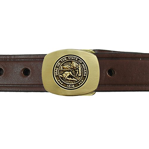 Buckle Seal (Indiana State Seal Buckle and Belt OBMS113B IMC-Retail 42 Chestnut Brown)