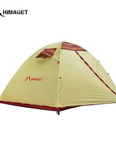 FUDA tent Zelt ( Braun , 2 Personen ) -Feuchtigkeitsdurchl?ssigkeit / Feuchtigkeitsundurchl?ssig / Wasserdicht / Atmungsaktivit?t / Regendicht /