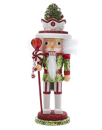 Kurt Adler Christmas Nutcracker Hollywood Nutcracker with Candy Hat - 10 Inch ()