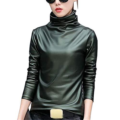 Femme YOUMU Longues Green Manches Chemisier vqntw1xZ6