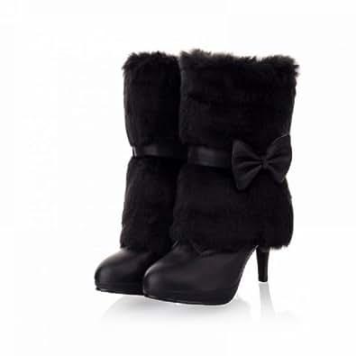 Amazon.com | Charm Foot Fashion Faux-fur Womens Platform