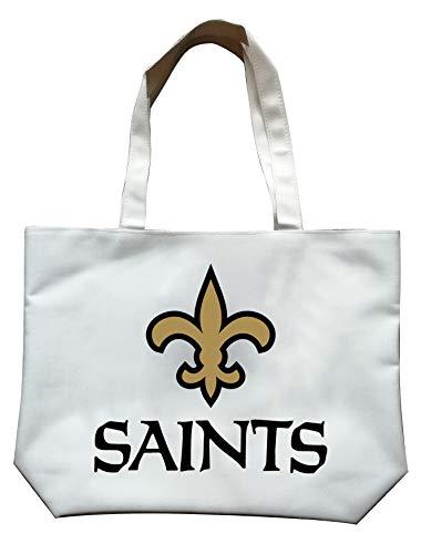 LEMOISTARS NFL Team Logo Unisex High End Canvas Tote Bag (New Orleans Saints)
