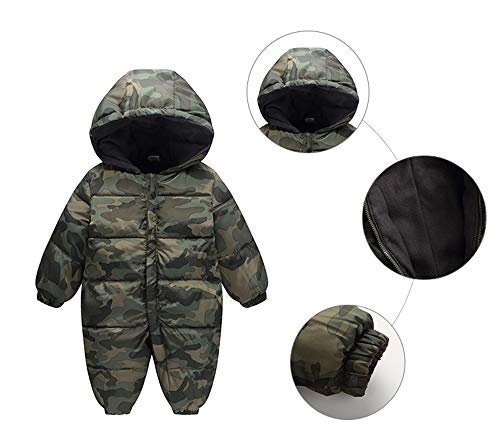 Jumpsuit Snowsuit Romper Girl Outwear Infant Winter Hood Baby Thick Warm camouflage Fairy Boy PHwSp