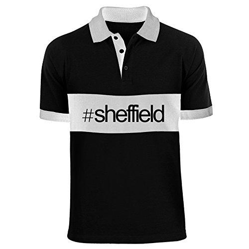 Idakoos - Hashtag Sheffield - Last Names - Chest Stripe Polo Shirt (Sheffield Stripe)