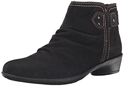 Cobb Hill Rockport Women's Nicole Boot, Black, 6 W US