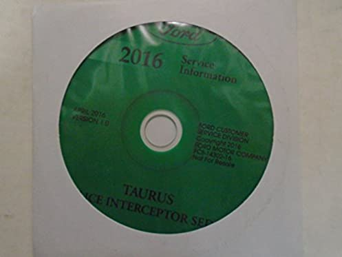 2016 ford taurus police interceptor service shop repair manual on cd rh amazon com 1986 Ford Mustang Repair Manual 1986 Ford Mustang Repair Manual