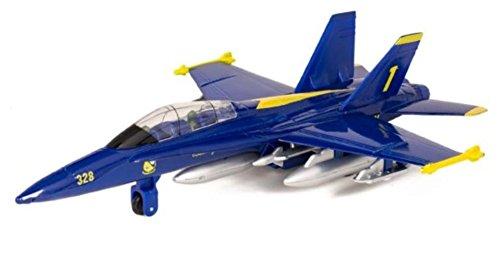 F-18 Hornet Blue Jet Toy with Pull Back Action ()