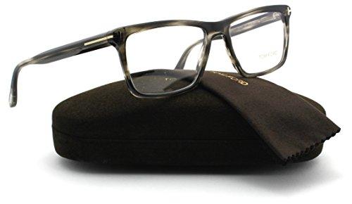 Tom Ford FT5407 Unisex Acetate Eyeglasses (Black Frame 005, 54) (Tom Ford Round Eye Glasses)
