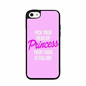 Pick Your Head up Princess Your Tiara Is Falling - 2-Piece Dual Layer Phone Case Back Cover (iPhone 6 plus 5.5) includes diy case Cloth and Warranty Label