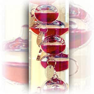 "17"" Galileo Thermometers - Red Spheres"