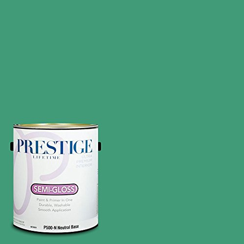 Prestige Paints Interior Paint and Primer In One, 1-Gallon, Semi-Gloss,  Comparable Match of Behr Dancing Jewel - Dancing Jewel