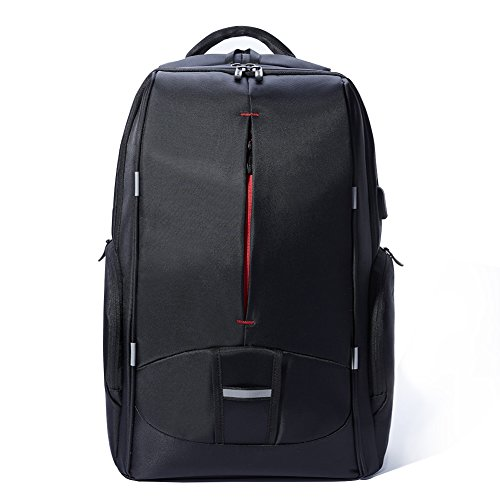 KALIDI Travel Gaming Laptop Backpack 18.4 Inch with USB Charge Port, Waterproof Computer Bag Notebook Rucksack for Dell, Asus, Msi,Hp Gaming Laptops
