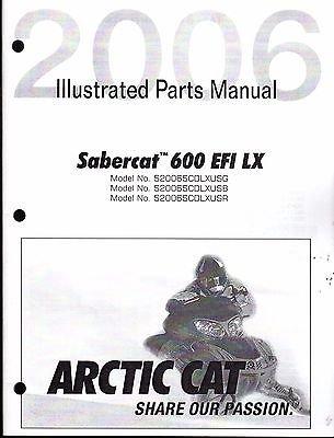 Download 2006 Arctic Cat Snowmobile SABERCAT 600 EFI LX Parts Manual P/N 2257-407 (562) ebook