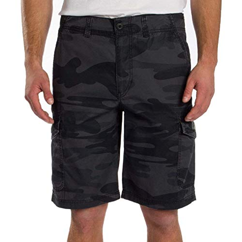 UNIONBAY Montego Cargo Shorts for Men Assorted Colors and Sizes - Comfort Stretch (Black Camo, 40) (Men Pants Unionbay For Cargo)