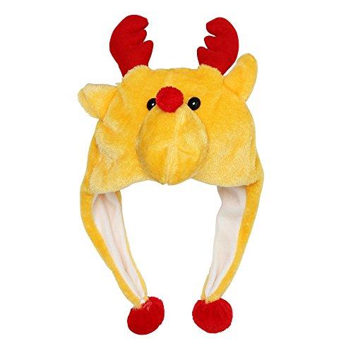 diseños Christmas Reno CHRISTMASSHOP navideños Afelpado navideños con Mujer Shop Gorro Adultos Hombre w6ppxqS1