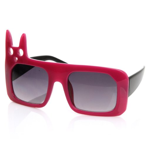 zeroUV - Luxe Inspired Fashion Kitty Cat Head Large Square Oversized Sunglasses - Large Sunglasses Best Head For