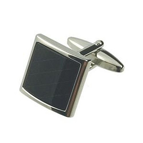 Cufflinks Handmade Onyx - Select Gifts Cuff links Andromeda~Onyx~Cufflinks for men + Hand Made Black Pouch