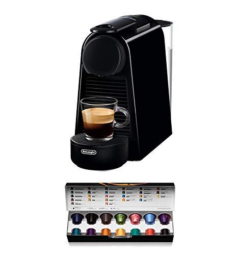 Nespresso De'Longhi Essenza Mini EN85.B – Cafetera monodosis de cápsulas Nespresso, compacta, 19 bares, apagado…