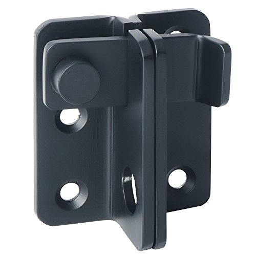 Alise Gate Latches Slide Bolt Latch Safety Door Lock,MS3005-B Stainless Steel Matte Black