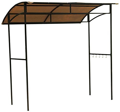 Sunjoy 110109186 Original Replacement Canopy for Curve Grill Shelter (7X5 FT) L-GZ544PST-C Sold at Wal-Mart US, Ginger Snap