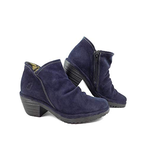 Ankle London Heel Navy Boot Low Wezo Fly cgwzynxUx