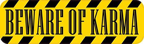 10x3 Beware of Karma Bumper Sticker Vinyl Vehicle Window Inspirational Stickers ()