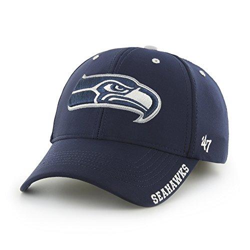 - '47 NFL Seattle Seahawks Condenser MVP Adjustable Hat, One Size, Light Navy