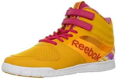 Reebok Women's Dance Urlead Mid Dance Shoe,Reebok Gold/Cosmic Berry/White/Iced Berry,7 M US