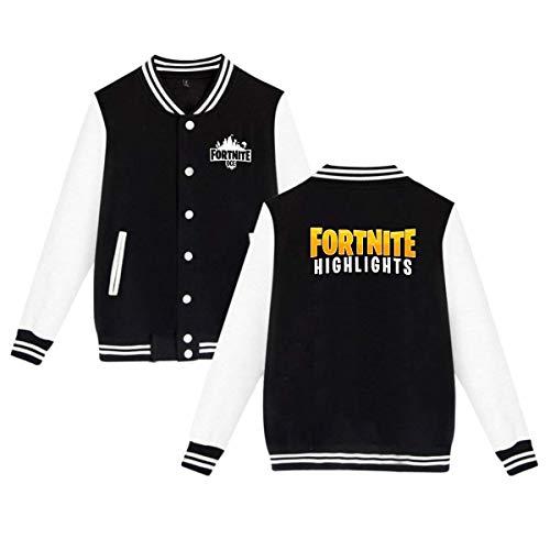 for tnite Casual Baseball Jacket Varsity Uniform Boys Youth Adult Sweater Coat, Black -