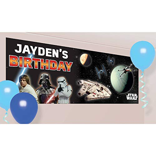 Amscan 9903087 Star Wars Party Personalised Giant -