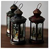 Christmas Wrought Iron Candlestick Ornaments Christmas Decorations European Retro Wrought Iron Windproof Candlestick