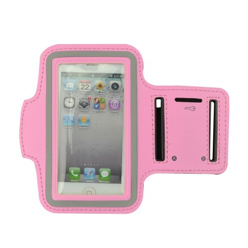 - Deluxe Workout Running Gym Armband Case for iPhone SE / 5c / 5S / iPod Touch 5 (Pink)