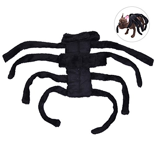 [Petacc Adorable Pet Halloween Costume Charming Dog Apparel Pet Fancy Outfit with Cool Spider Shape, Suitable for Small-sized Dogs] (Dog Spider Outfit)