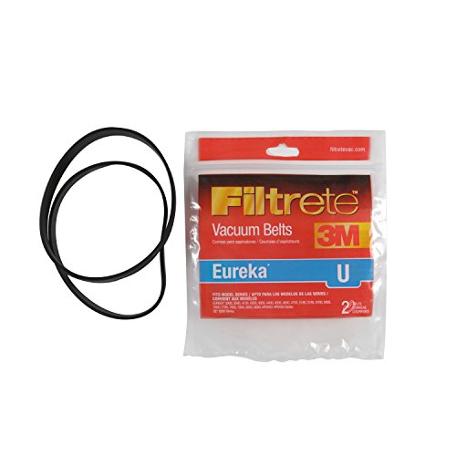 Eureka Whirlwind - 3M Filtrete Eureka U Vacuum Belt - 2 belts