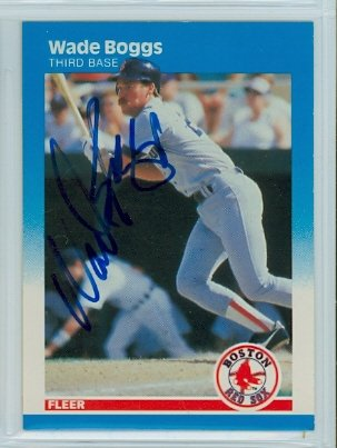 Wade Boggs AUTOGRAPH 1987 Fleer #29Boston Red Sox by Autographed Baseball Cards (1970-1979)