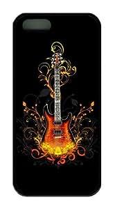 phone covers 3D Guitar TPU Black spec iphone 5c case for Apple Iphone 5c