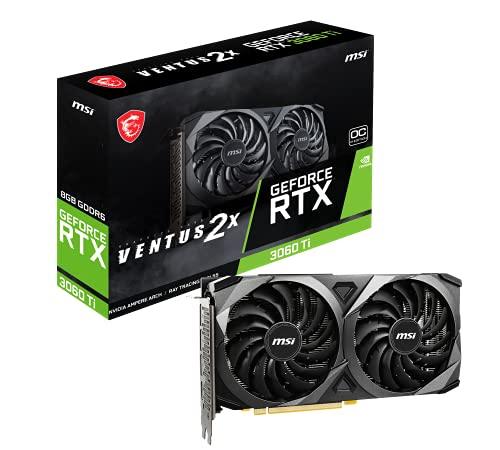 MSI Gaming GeForce RTX 3060 Ti LHR 8GB GDRR6 256-Bit HDMI/DP Nvlink Torx Fan 3 Ampere Architecture OC Graphics Card (RTX…