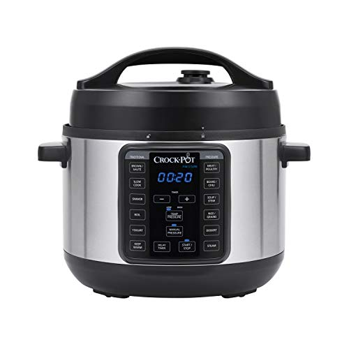 Crock-pot SCCPPC400-V1 4-Quart Multi-Use MINI Express Crock Programmable Slow Cooker with Manual Pressure, Boil & Simmer, 4QT, Stainless Steel (Crock Pot Slow Cooker Cuisinart)