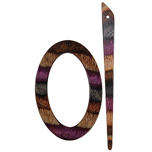 KnitPro Symfonie Wood Sigma Shawl Pin/ Stick, Lilac