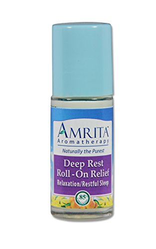 Deep Rest Roll-On Relief (Natural Sleep Aid) By Amrita Aromatherapy with Essential Oils of Red Mandarin, Lavender Extra, Sweet Marjoram & Mandarine Petitgrain - Organic Lotion Base (SIZE: 30ml)