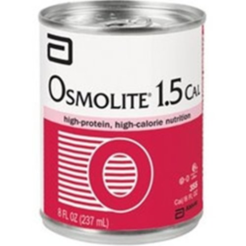 Osmolite 1.5 Cal Unflavored High-Protein, High-Calorie Nutrition 8 oz Cans - Case of 24 (Model 57469)