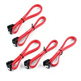 "5 Pack of 18"" Double-Locking SATA III/6Gb/s Right Angle Cables"