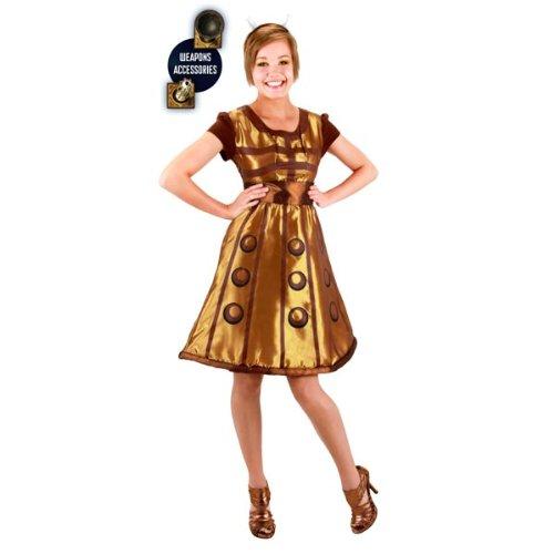 Elope Women's Doctor Who Gold Dalek Dress L/XL Gold ()