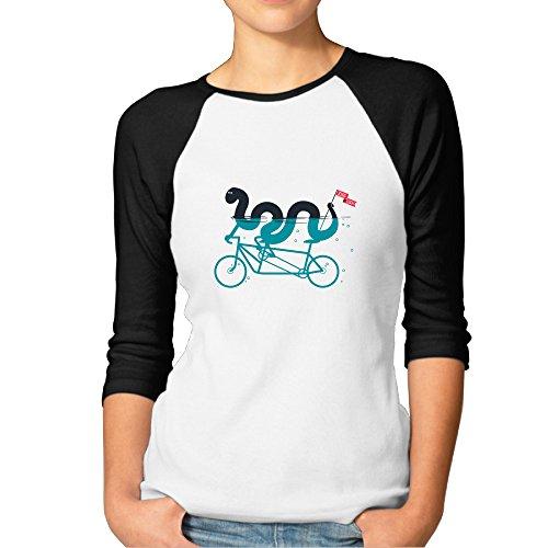 DonSir Bike Loch Women Baseball Raglan Tshirt Black L Republic Heroes Wii