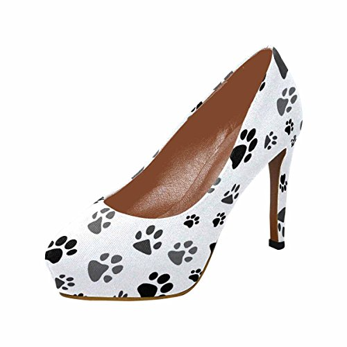 Print Paw Classic InterestPrint Platform Womens Heel Fashion Footprint High Cat Pumps 0A8O5x